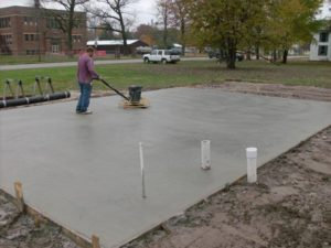 Concord concrete pads for RV, sheds, AC, basketball